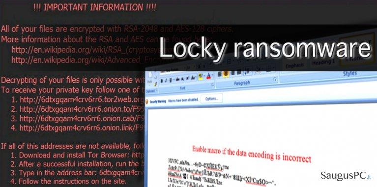 Viskas, ką turite žinoti apie Locky virusą ekrano nuotrauka