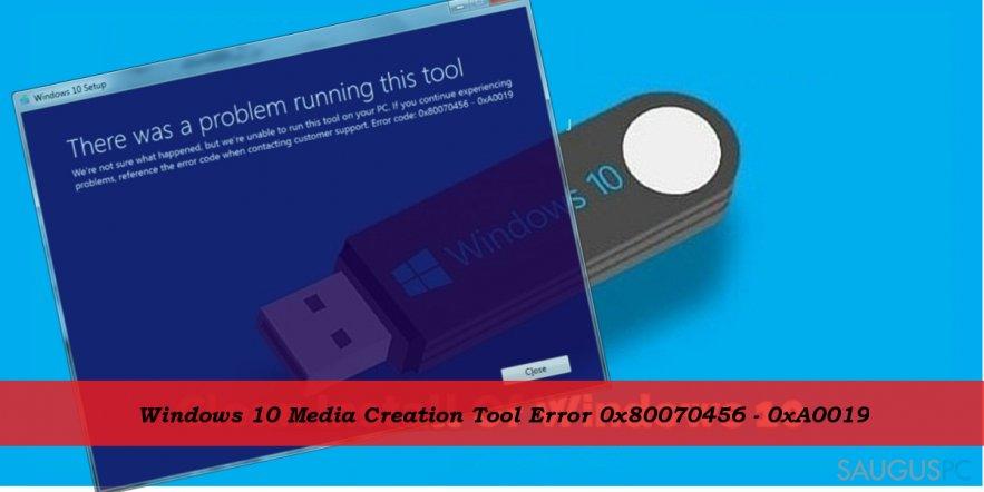 0x80070456 - 0xA0019 error when using Media Cretion Tool for Windows 10 install