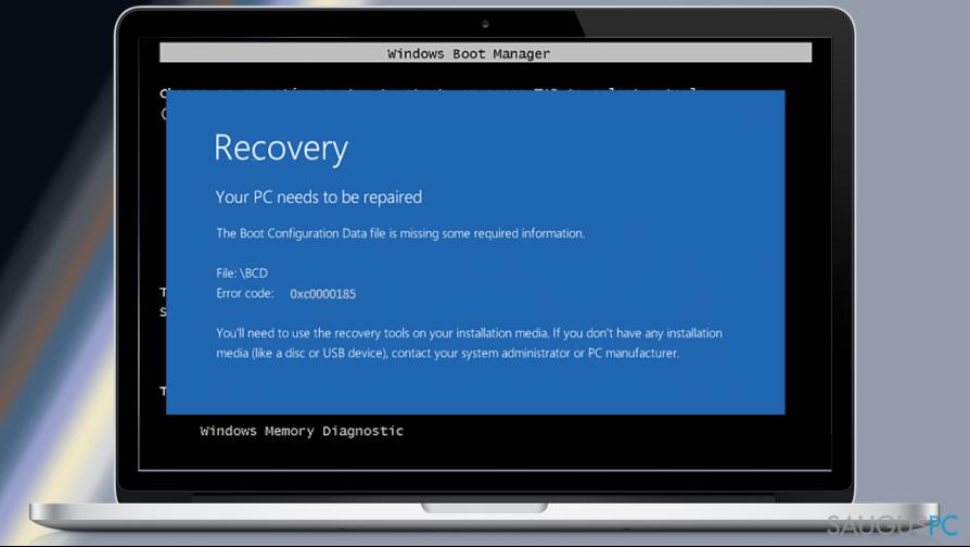 How to Fix Boot Configuration Data Error Code: 0xc0000185 on Windows 10?