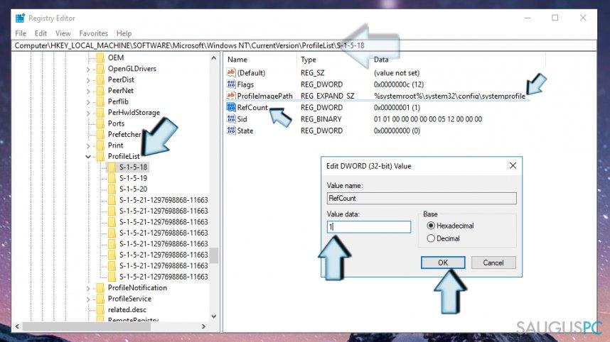 Windows Registro tvarkymas