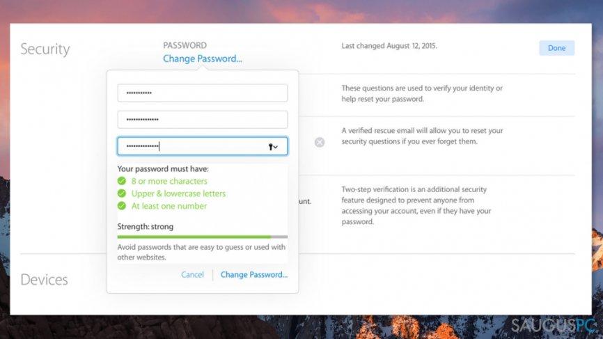 "Šalinant ""We could not complete your purchase"" klaidą, pabandykite pakeisti Apple ID slaptažodį"