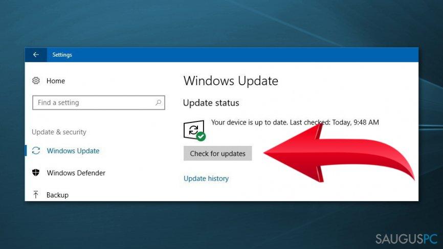 Windows 10 skaičiuoklės pataisymas