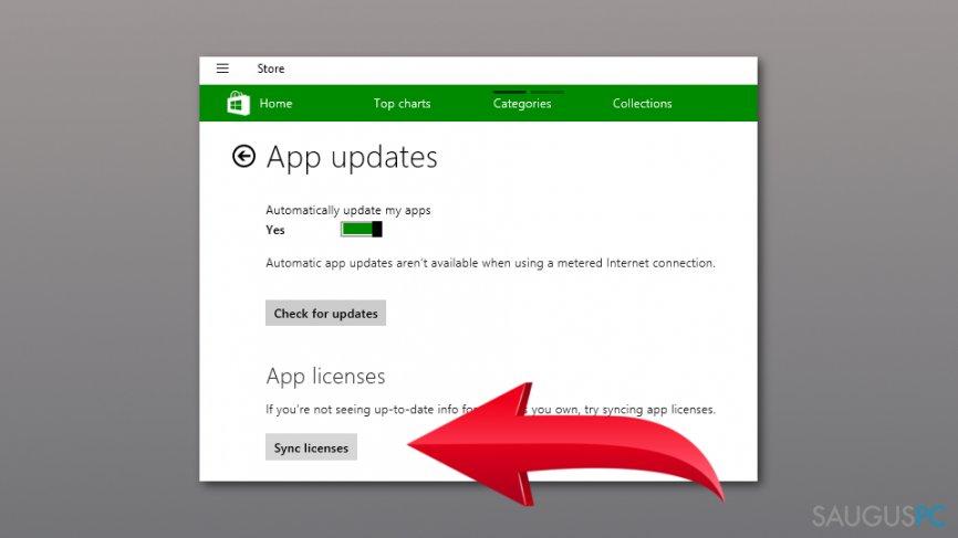 Pašalinkite Windows Store Error 0x80073D05 pranešimą