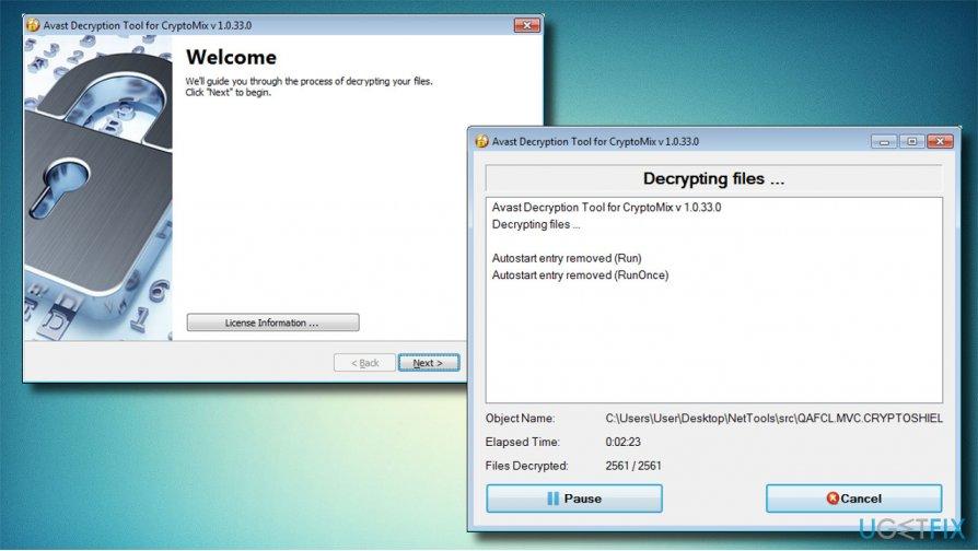 Failų šifravimo įrankis skirtas Arena virusui