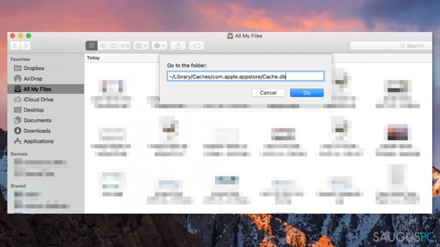 Ištrinkite talpyklas, susijusias su Mac App Store