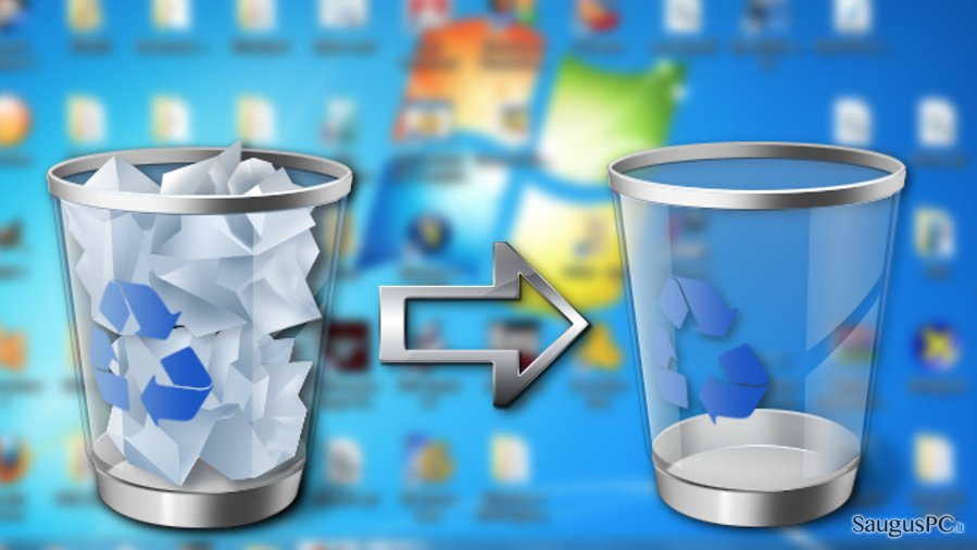 Image displaying Recycle Bin cleanup process