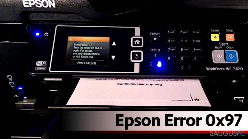 Epson error 0x97