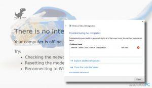 "Kaip ištaisyti ""Ethernet doesn't have a valid IP configuration"" klaidą?"