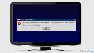"""Kaip pašalinti """"Unknown Software Exception 0x40000015"""" klaidą iš Windows?"""
