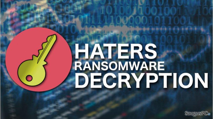 Haters ransomware decryption illustration
