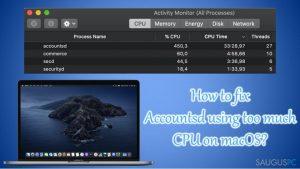 """Kaip ištaisyti """"Accountsd"""" klaidą, kai jis naudoja 400% CPU?"""