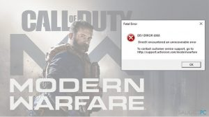 Kaip ištaisyti Dev Error 6068 Call of Duty: Modern Warfare?