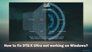"""Kaip pataisyti """"DTS:X Ultra"""", kai neveikia """"Windows"""" kompiuteryje?"""