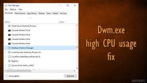 """Kaip ištaisyti aukštą CPU resursų sunaudojimą dėl """"dwm.exe"""" """"Windows 10"""" sistemoje?"""