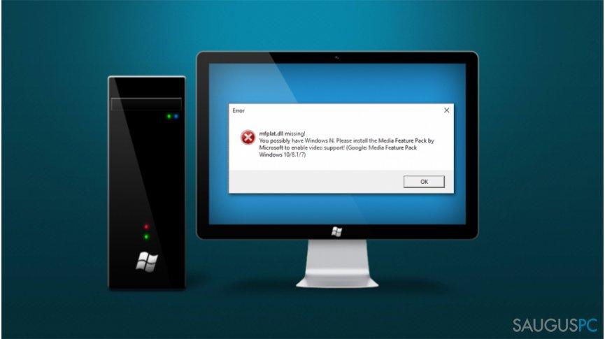 """Mfplat.dll missing"" Windows klaida"