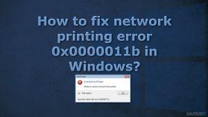 """Kaip ištaisyti spausdinimo klaidą 0x0000011b """"Windows"""" sistemoje?"""