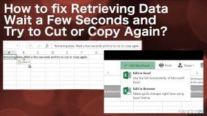 "Kaip ištaisyti ""Retrieving data, wait a few seconds and try to cut or copy again"" klaidą?"