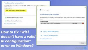 "Kaip sutvarkyti ""WiFi doesn't have a valid IP configuration"" problemą ant Windows?"