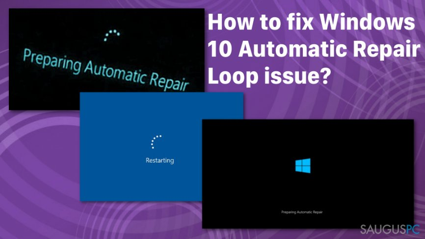 "Windows 10 ""Automatic Repair"" klaida"