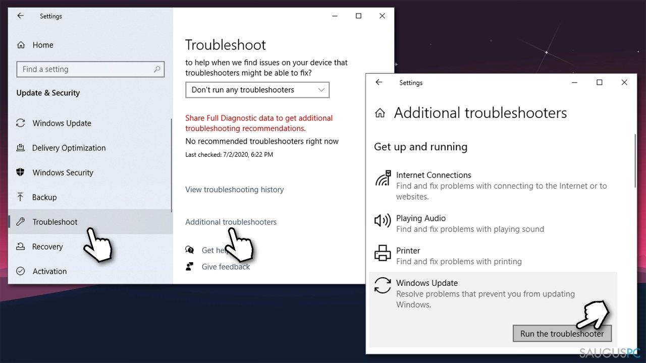 """Paleiskite """"Windows Update"""" trikčių šalinimo įrankį"""