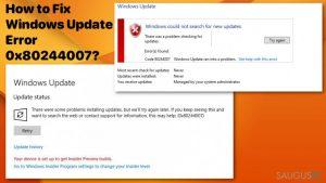 Kaip pašalinti Windows atnaujinimo klaidą0x80244007?