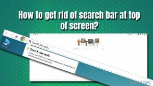 Kaip pašalinti paieškos juostą ekrano viršuje?