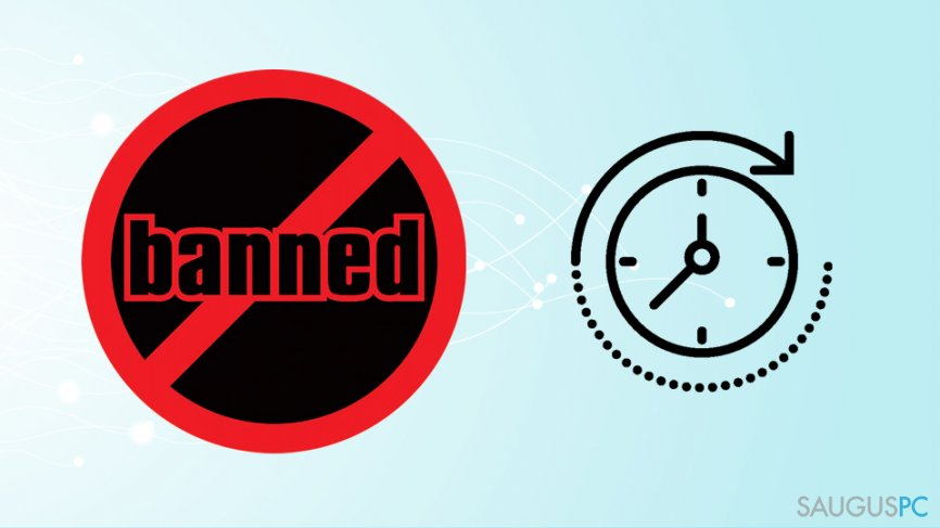 Laikinas užblokavimas platformoje