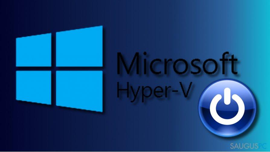 Sustabdykite Hyper-V