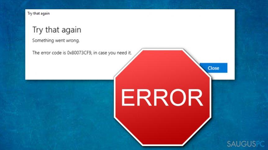 How to Fix Windows Store Error Code:0x80073cf9?