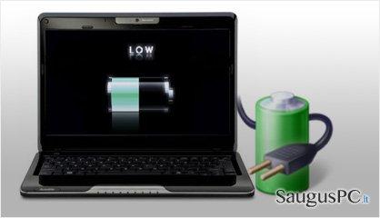 computer's battery life ekrano nuotrauka