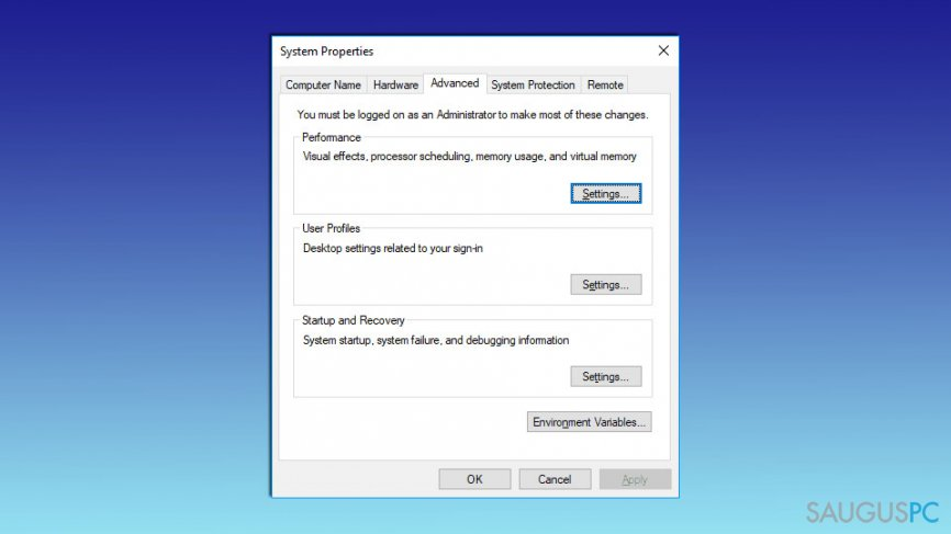 Pakeiskite procesoriaus planavimo parinktis