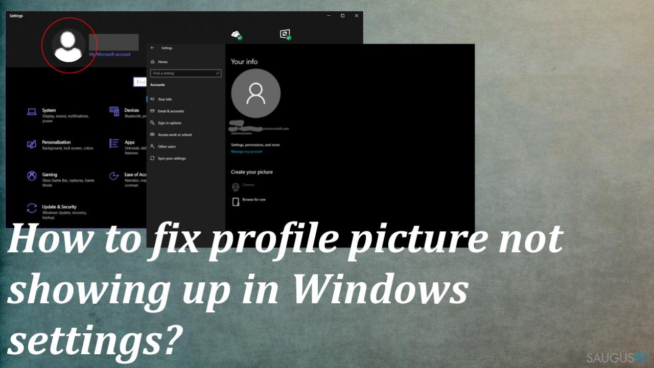 """Ištaisyti profilio nuotraukos nerodymą """"Windows"""" nustatymuose"""