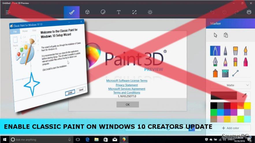 3D Paint'o nuotrauka