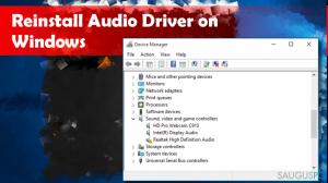 Kaip atnaujinti garso tvarkyklę Windows operacinėje sistemoje?