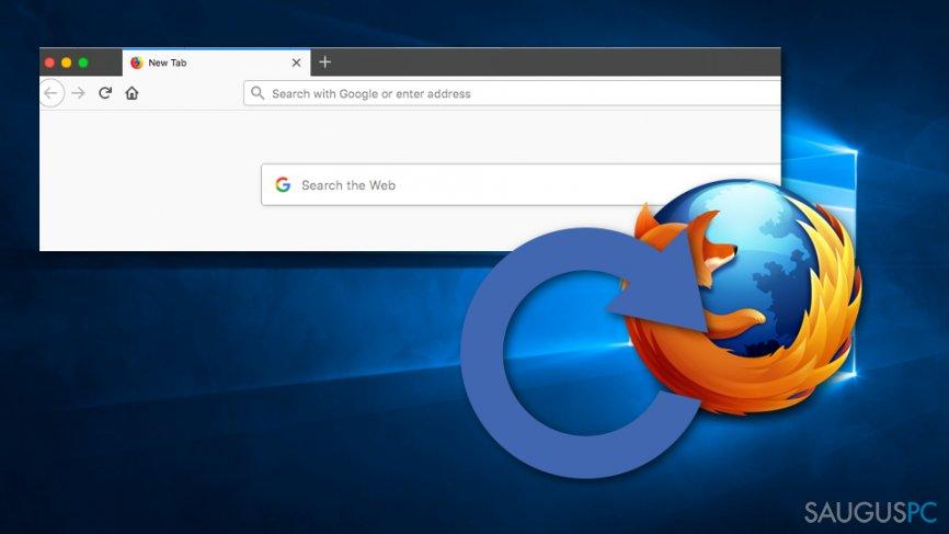 Mozilla Firefox atstatymas