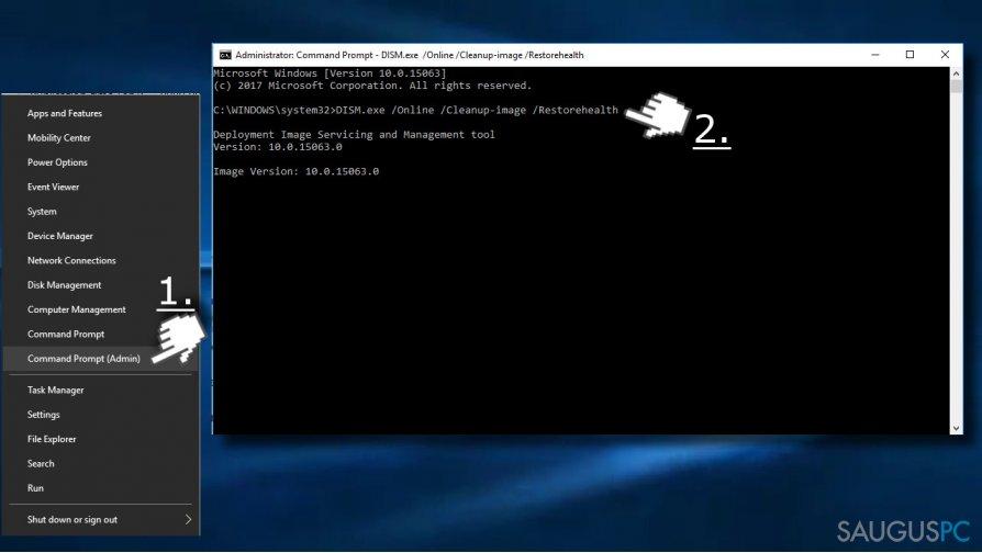 Pasinaudokite Command Prompt norėdami pašalinti Service Host klaidą