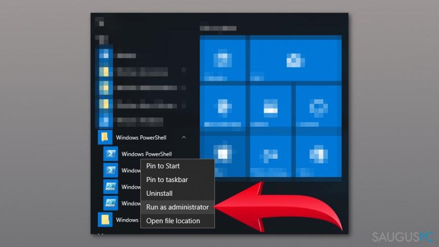 Panaikinkite Windows Store Error 0x80073D05 klaidos žinutę