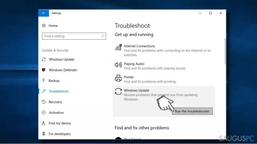 Run Windows Update Troubleshooter 2