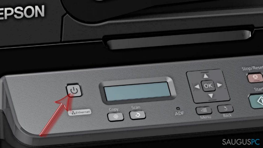 Shut down Epson printer