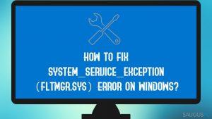 """Kaip ištaisyti """"SYSTEM_SERVICE_EXCEPTION (fltmgr.sys)"""" klaidą?"""