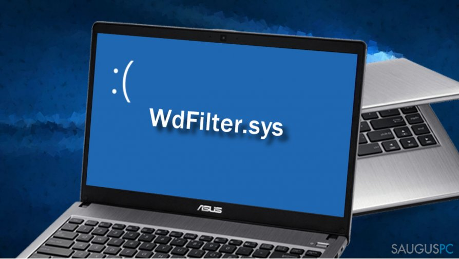 WdFilter.sys BSOD klaida