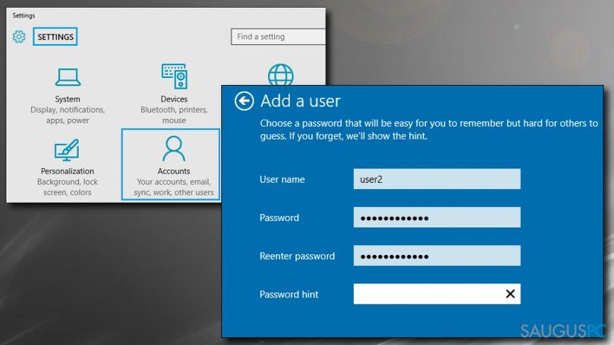 Naujas Windows profilis