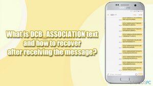 """Ką reiškia """"DCB_ASSOCIATION: 149427a0982c12478497b8a"""" žinutė ir ką daryti ją gavus?"""
